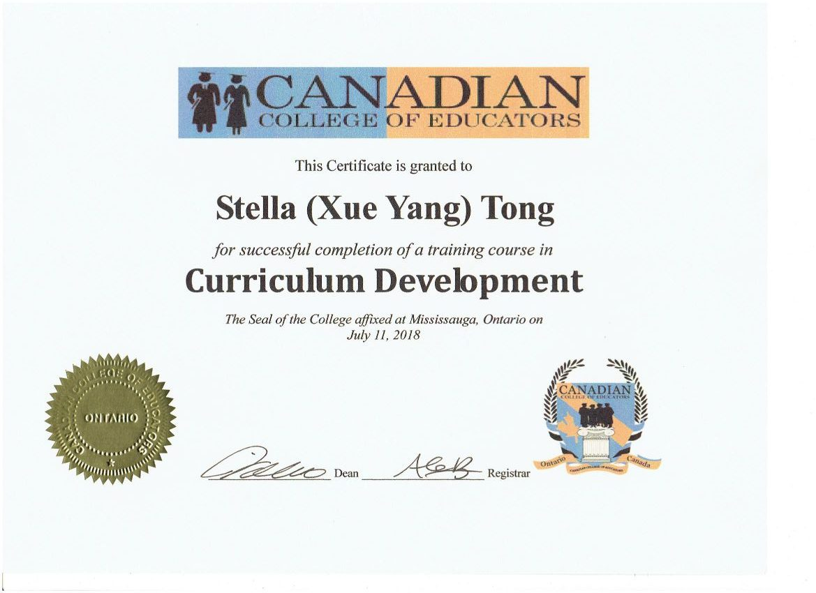 Stella Tong Curr. Dev. Cert. July. 2018 CCE 001